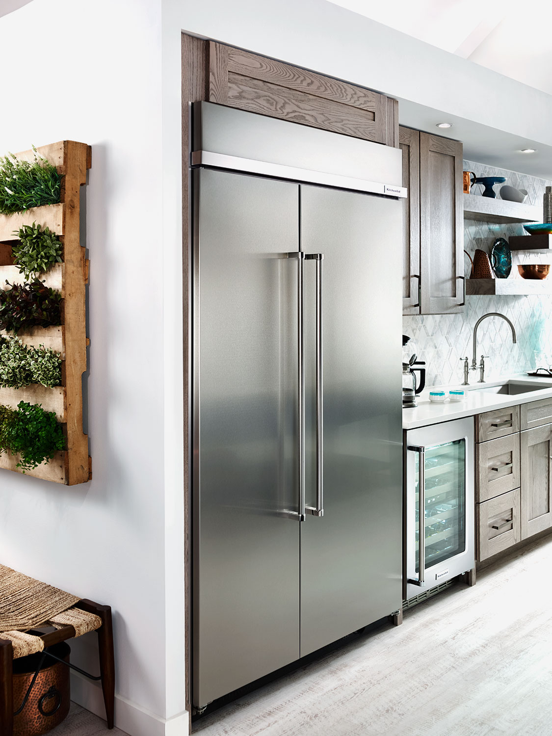 Kitchenaid Stainless Steel Side By Side Refrigerator 30 0