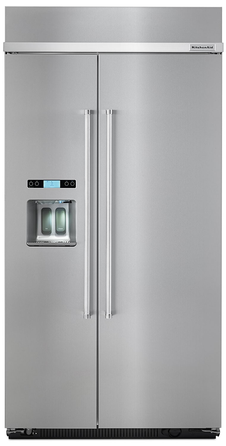 Refrigerators and Freezers - KitchenAid Stainless Steel Side-by-Side Refrigerator (25 Cu. Ft.) - KBDS602ESS
