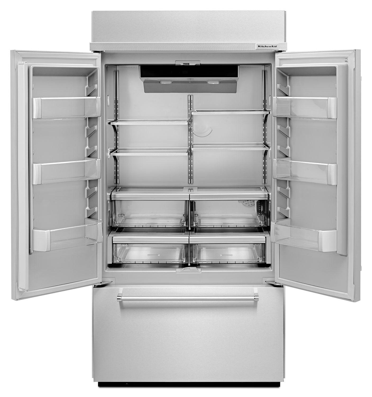Kitchen Refrigerator: KitchenAid 24.2 Cu. Ft. Built-In French-Door Refrigerator