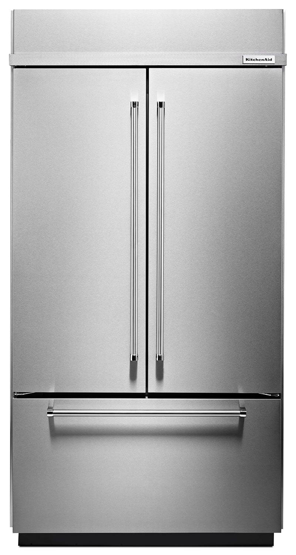 kitchenaid 24 2 cu ft built in french door refrigerator