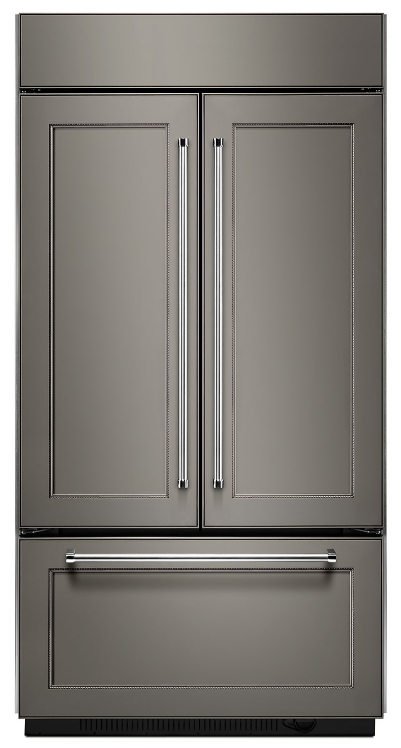 Refrigerators and Freezers - KitchenAid 24.2 Cu. Ft. Built-In French-Door Refrigerator – Panel Ready KBFN502EPA