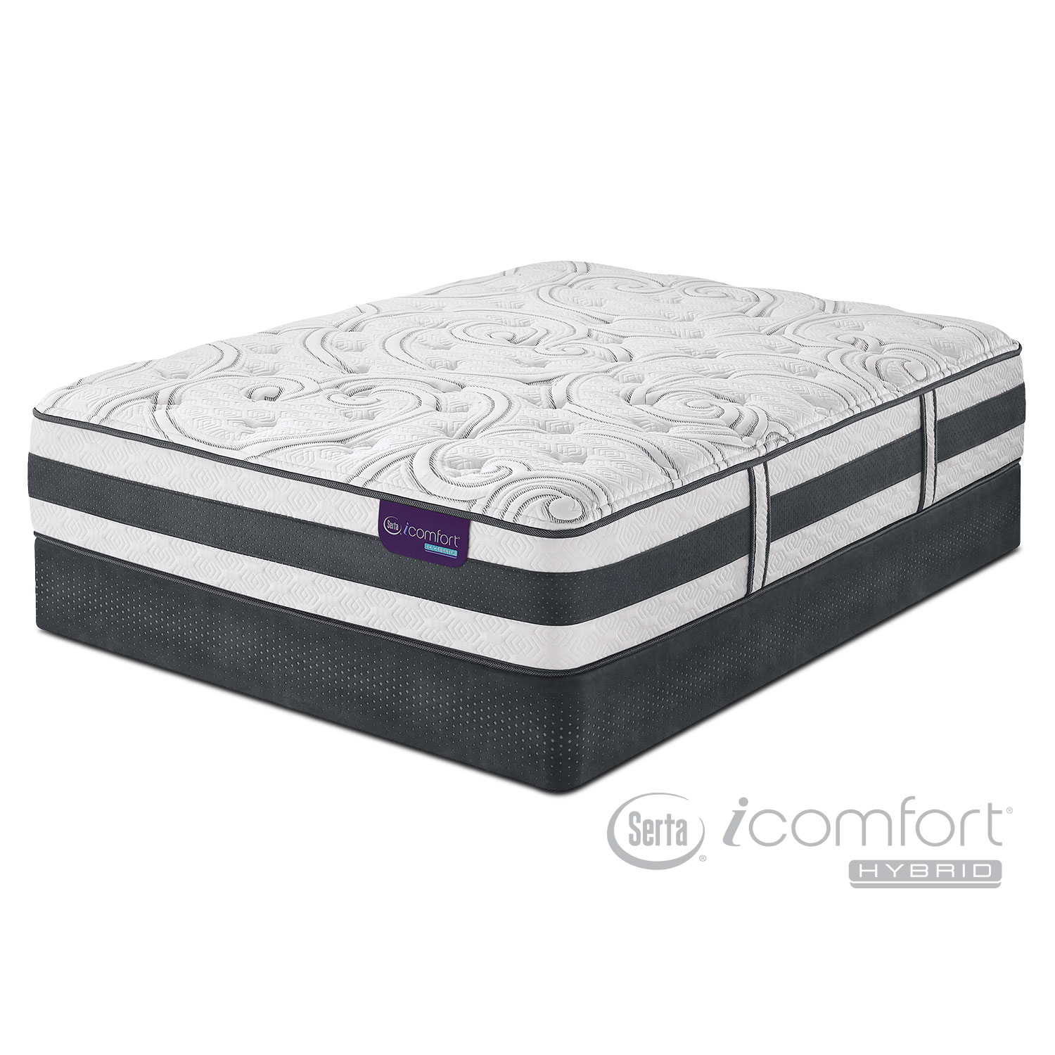 Recognition Plush Full Mattress And Low Profile Foundation