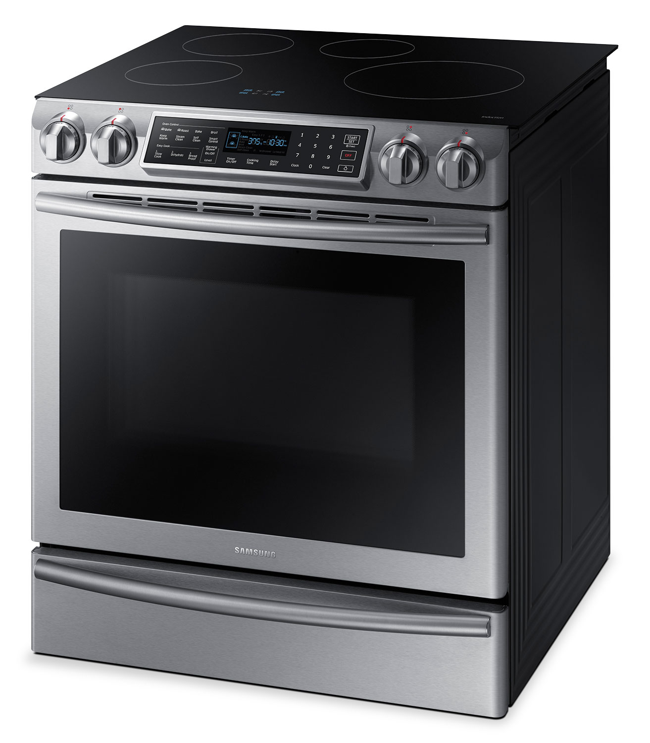 samsung induction range samsung 5 8 cu ft slide in induction range ne58k9560ws ac the brick