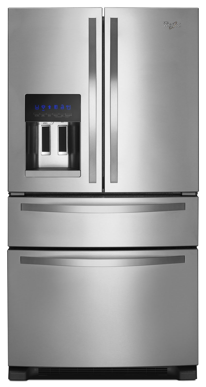 Refrigerators and Freezers - Whirlpool Stainless Steel French Door Refrigerator (24 Cu. Ft.) - WRX735SDBM