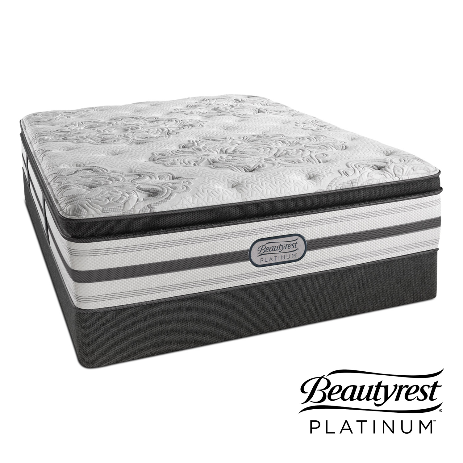 Genevieve Plush Queen Mattress And Split Foundation Set American Signature Furniture