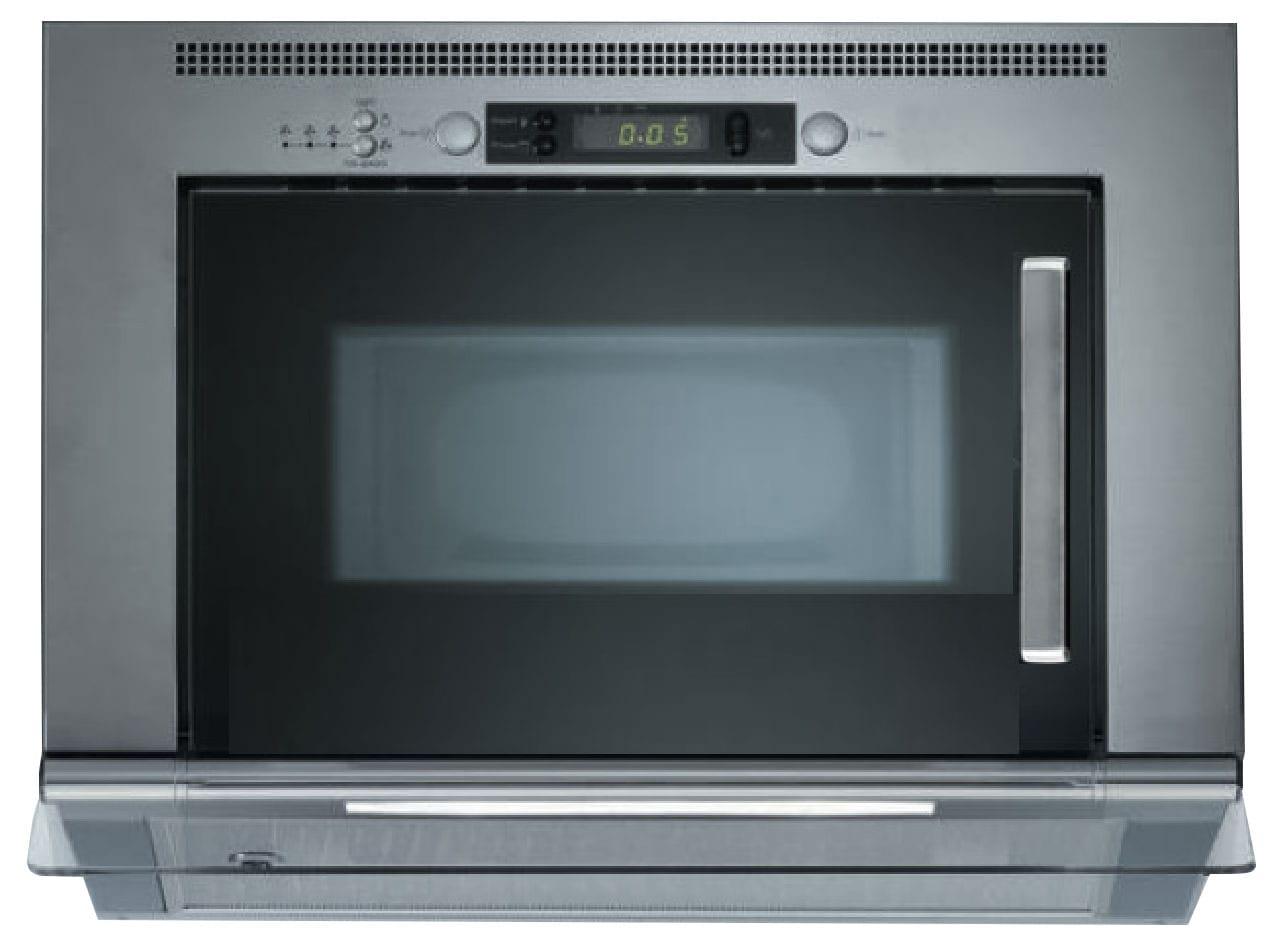 KitchenAid Stainless Steel/Black Built-In Microwave and 300 CFM Range Hood - YUMV4084BS