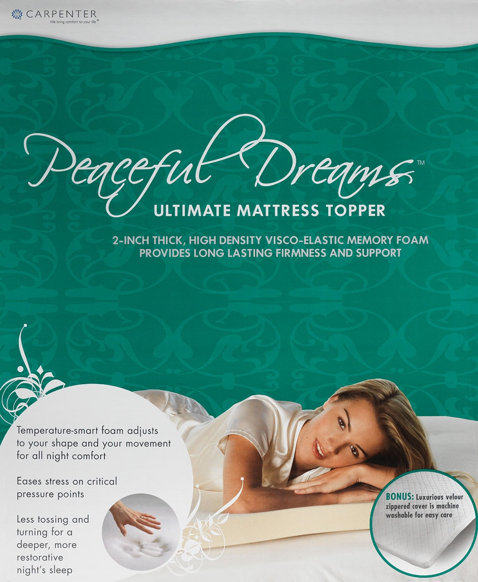 Peaceful Dreams Full-Sized Mattress Topper
