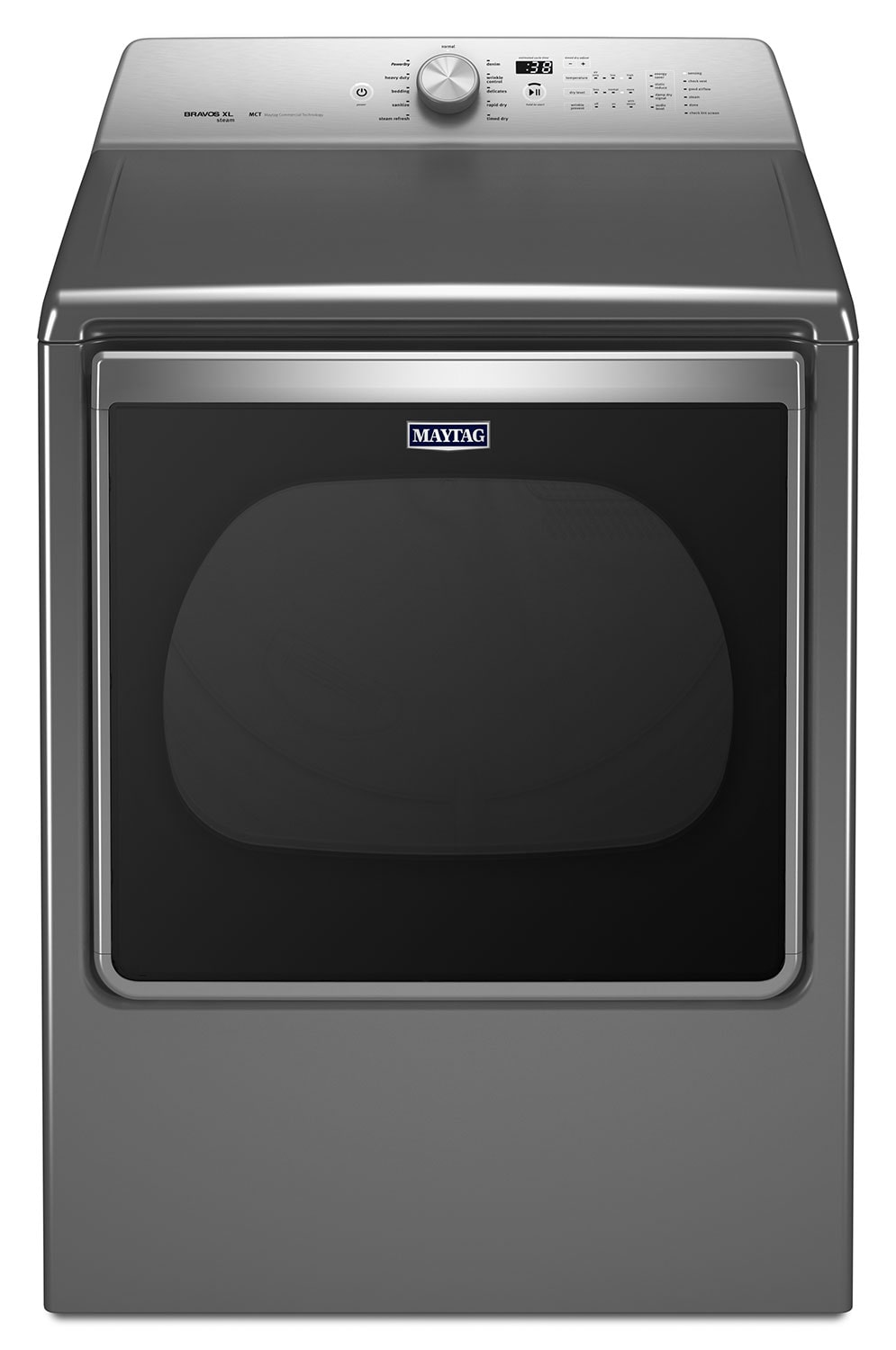 Washers and Dryers - Maytag Metallic Slate Gas Dryer (8.8 Cu. Ft.) - MGDB885DC