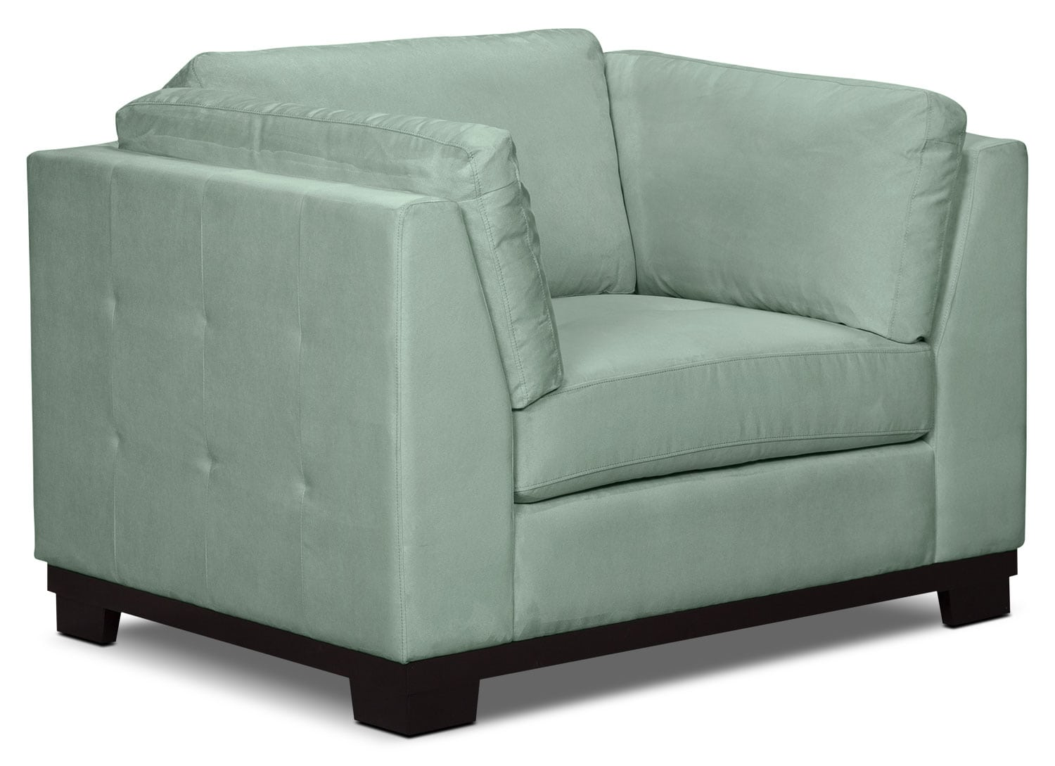 Oakdale Microsuede Loveseat Aqua The Brick