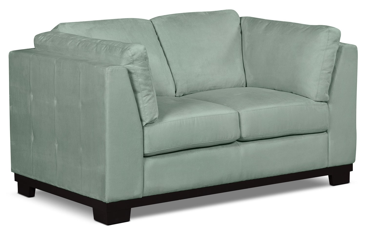 Living Room Furniture - Oakdale Microsuede Loveseat – Aqua