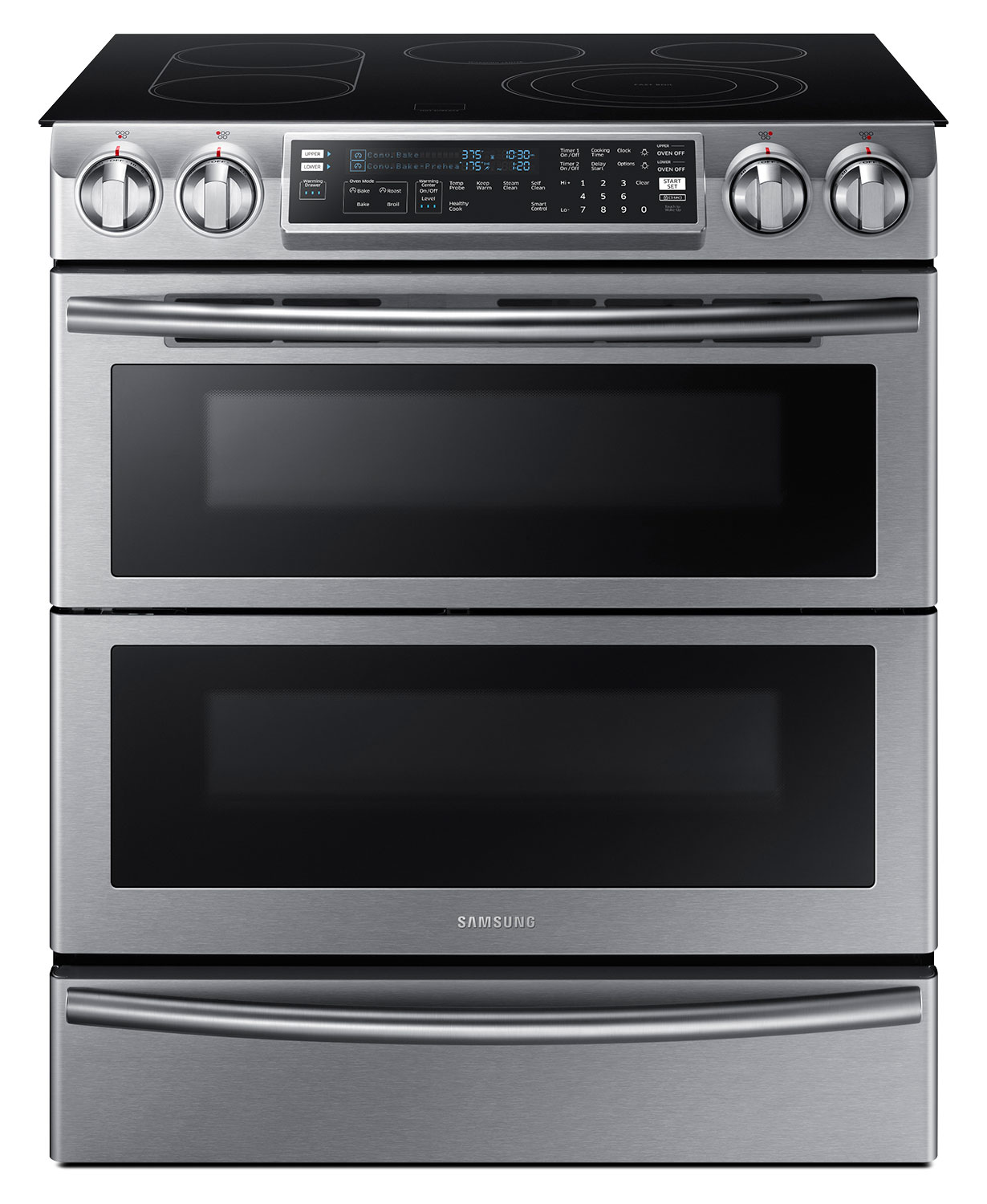 Samsung Slide-In Stainless Steel Electric Range w/ Flex Duo (5.8 Cu. Ft.) - NE58K9850WS/AC