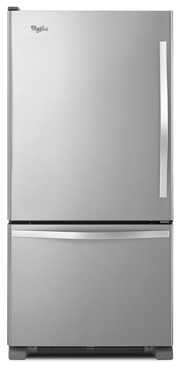 Refrigerators and Freezers - Whirlpool Stainless Steel Bottom-Freezer Refrigerator (19 Cu. Ft.) - WRB329LFBM
