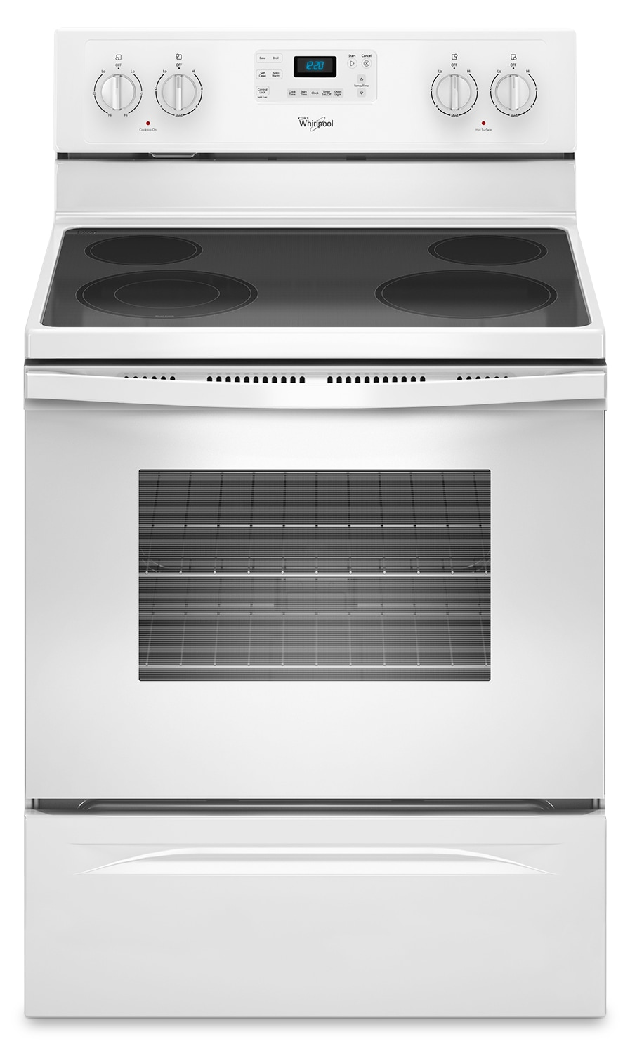 Cooking Products - Whirlpool Electric Range - White - YWFE515S0EW