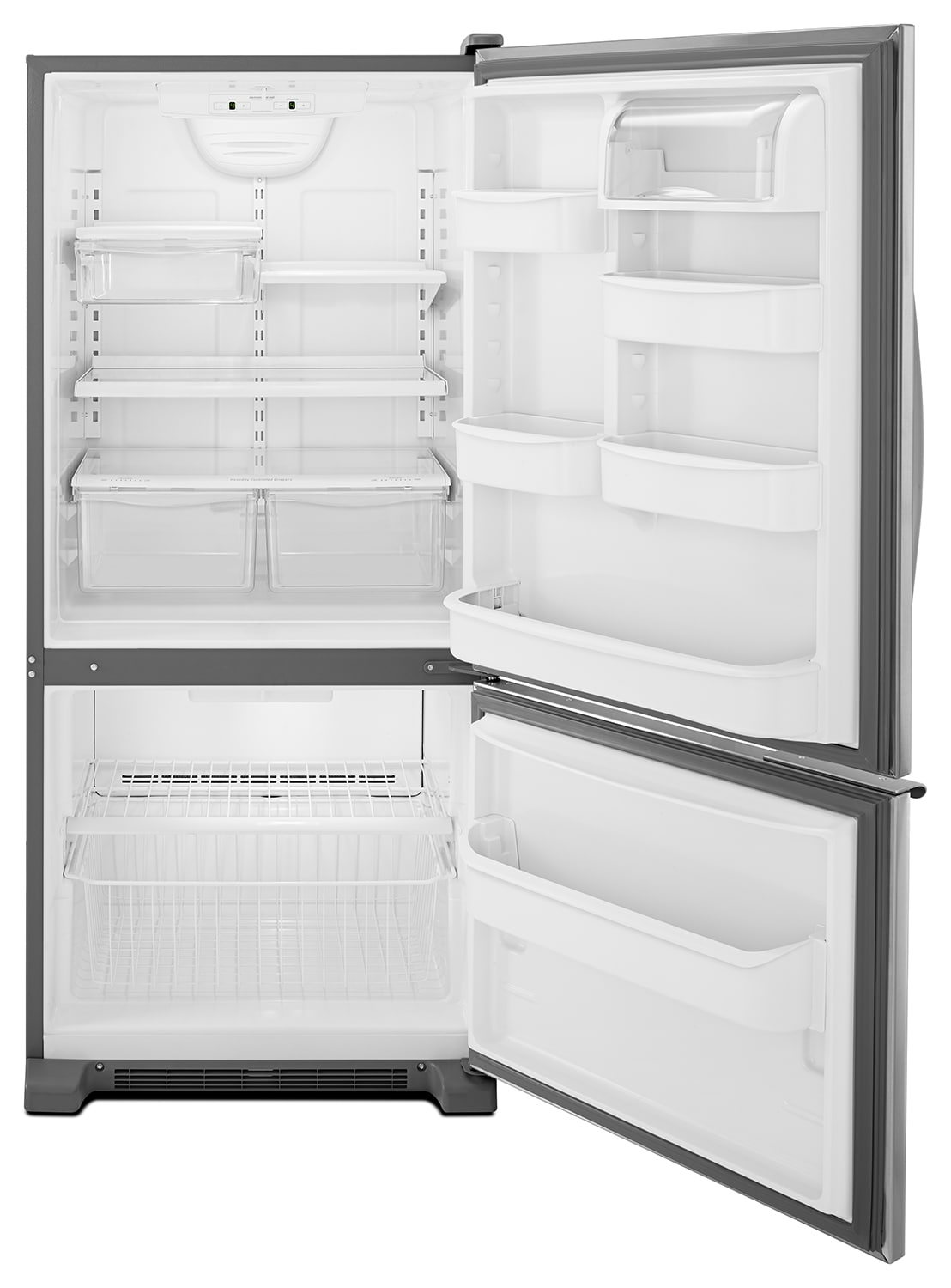 Whirlpool Stainless Steel Bottom Freezer Refrigerator 18