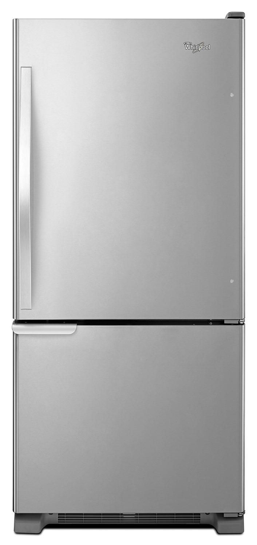 Whirlpool Stainless Steel Bottom-Freezer Refrigerator (18.7 Cu. Ft.) - WRB119WFBM