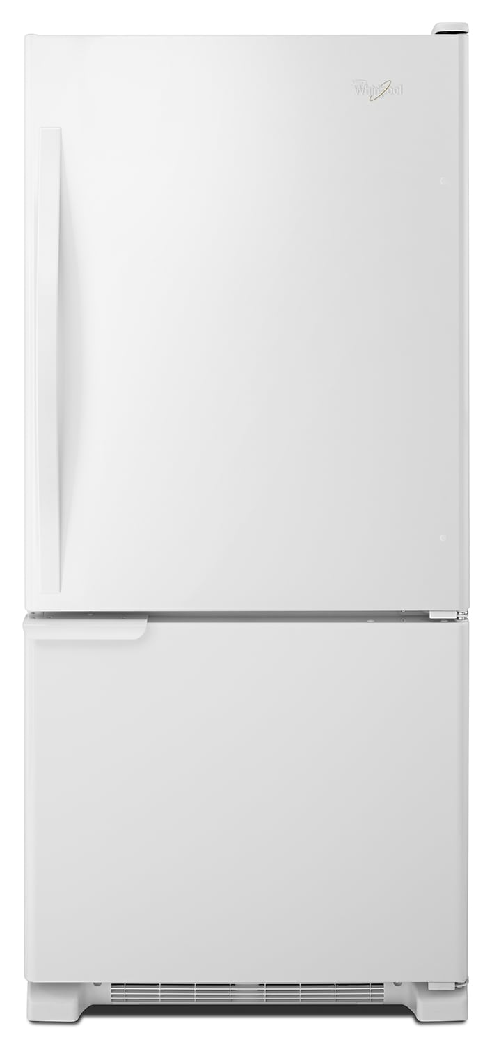 Refrigerators and Freezers - Whirlpool White Bottom-Freezer Refrigerator (18.7 Cu. Ft.) - WRB119WFBW