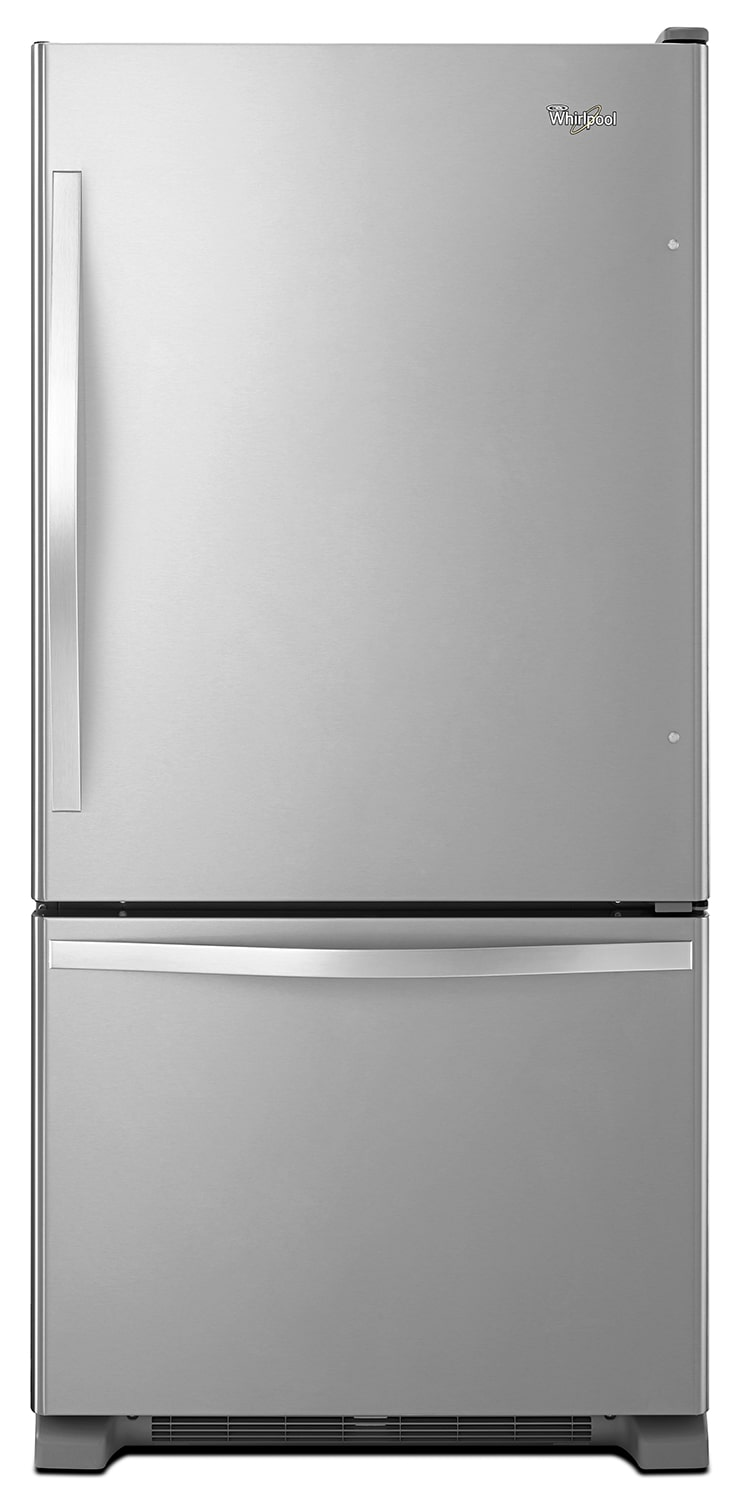 Refrigerators and Freezers - Whirlpool Stainless Steel Bottom-Freezer Refrigerator (22.1 Cu. Ft.) - WRB322DMBM