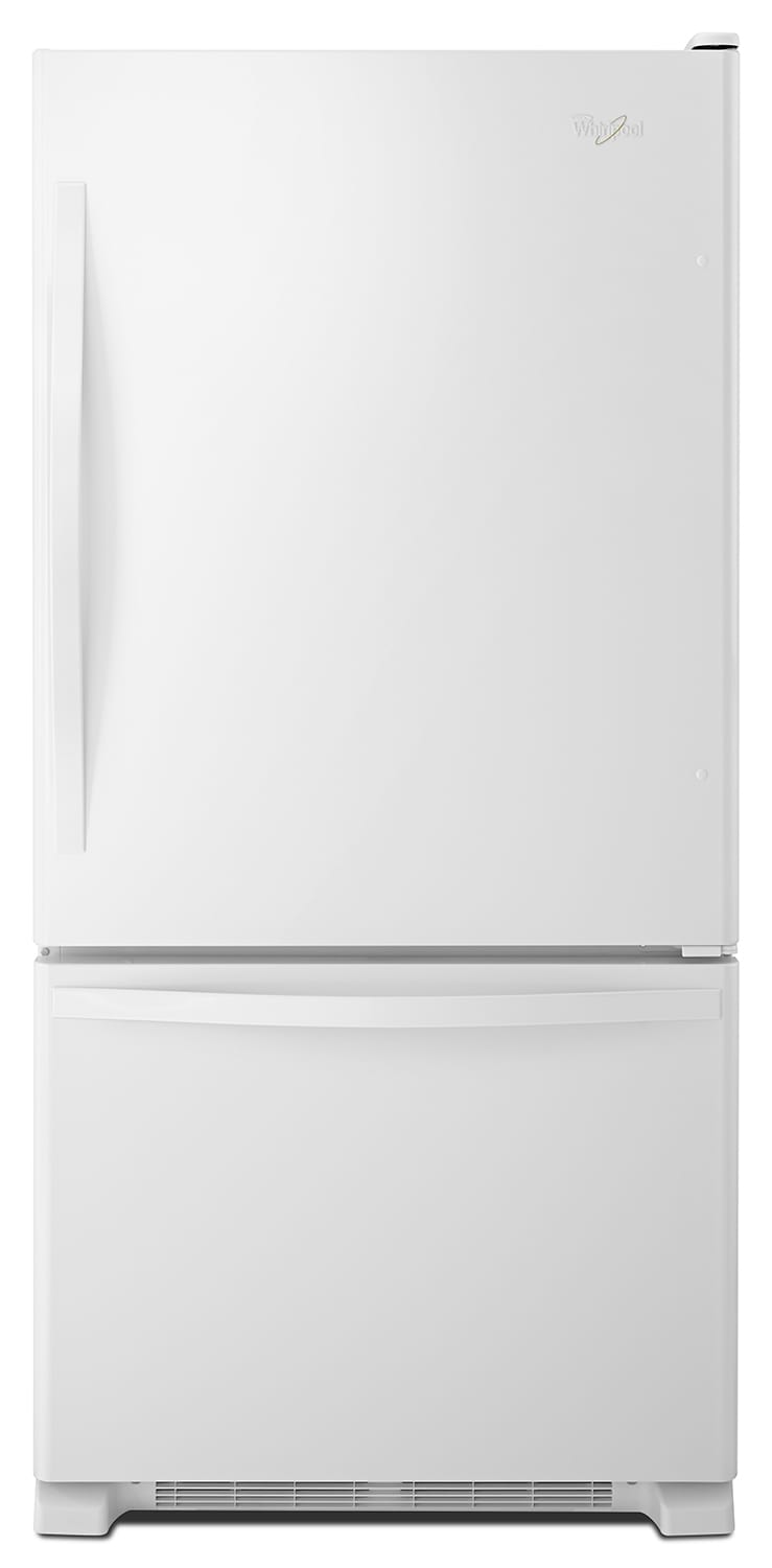 Refrigerators and Freezers - Whirlpool White Bottom-Freezer Refrigerator (23 Cu. Ft.) - WRB322DMBW