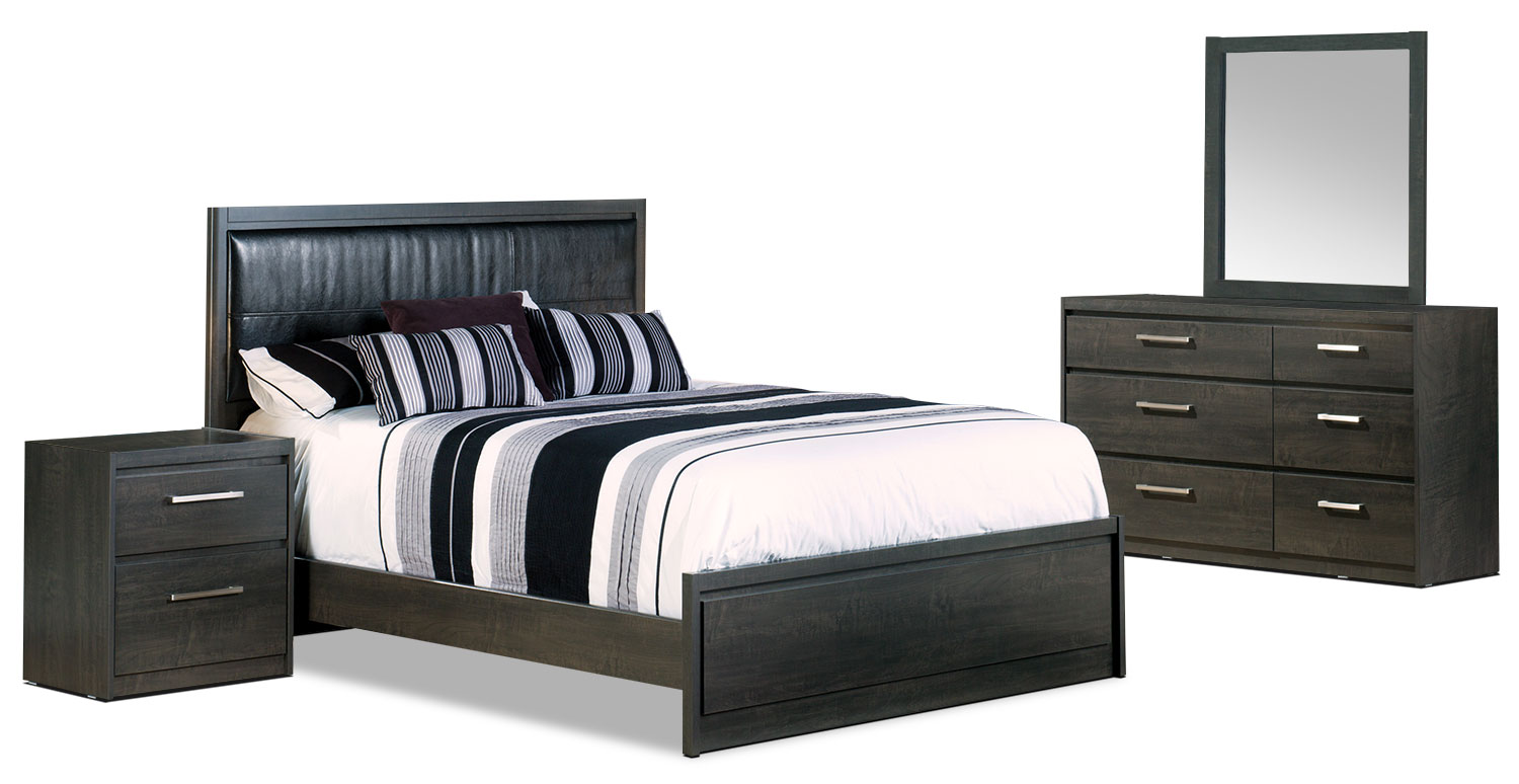 Bedroom Furniture - Tyler 6-Piece Queen Bedroom Package