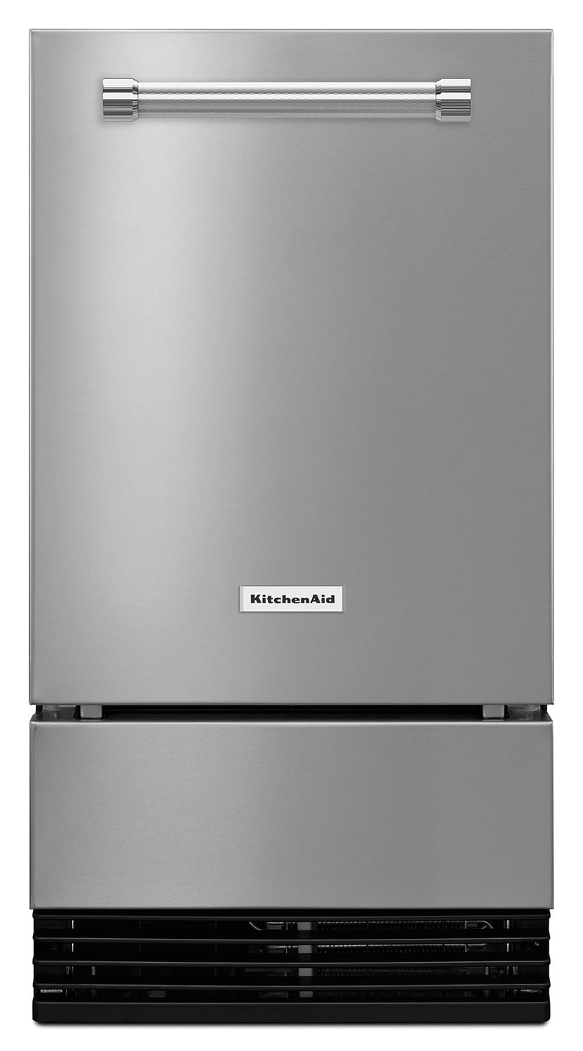 "Refrigerators and Freezers - KitchenAid Stainless Steel 18"" Ice Maker - KUID508ESS"