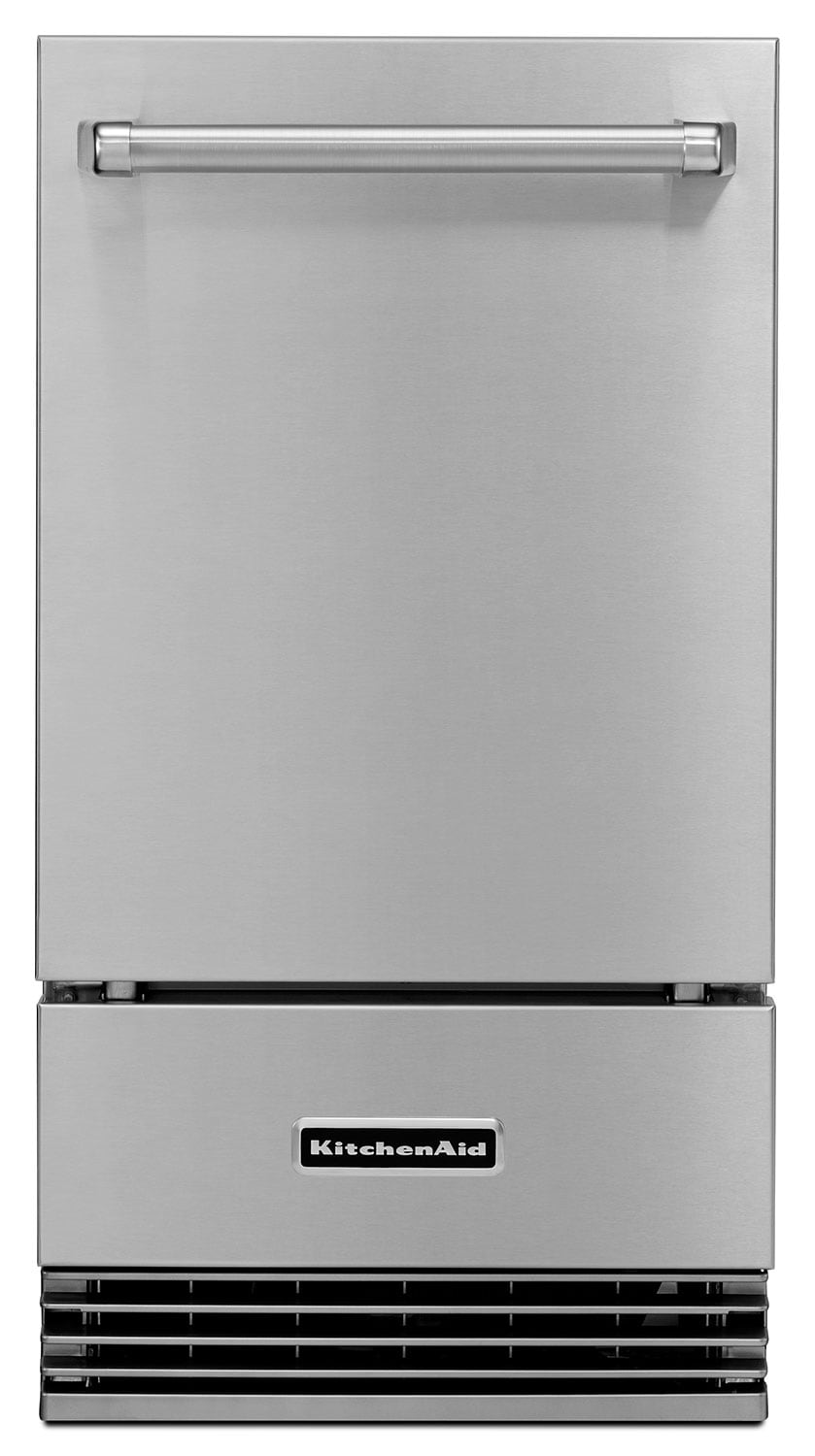 Refrigerators and Freezers - KitchenAid Stainless Steel Ice Maker - KUIO18NNZS