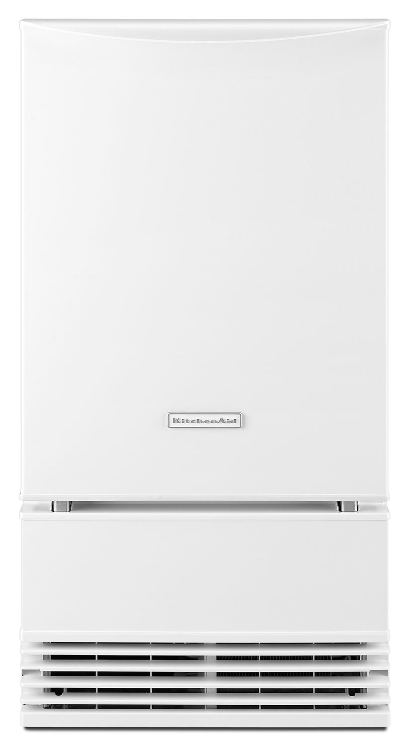 "Refrigerators and Freezers - KitchenAid White 18"" Ice Maker - KUIS18PNZW"