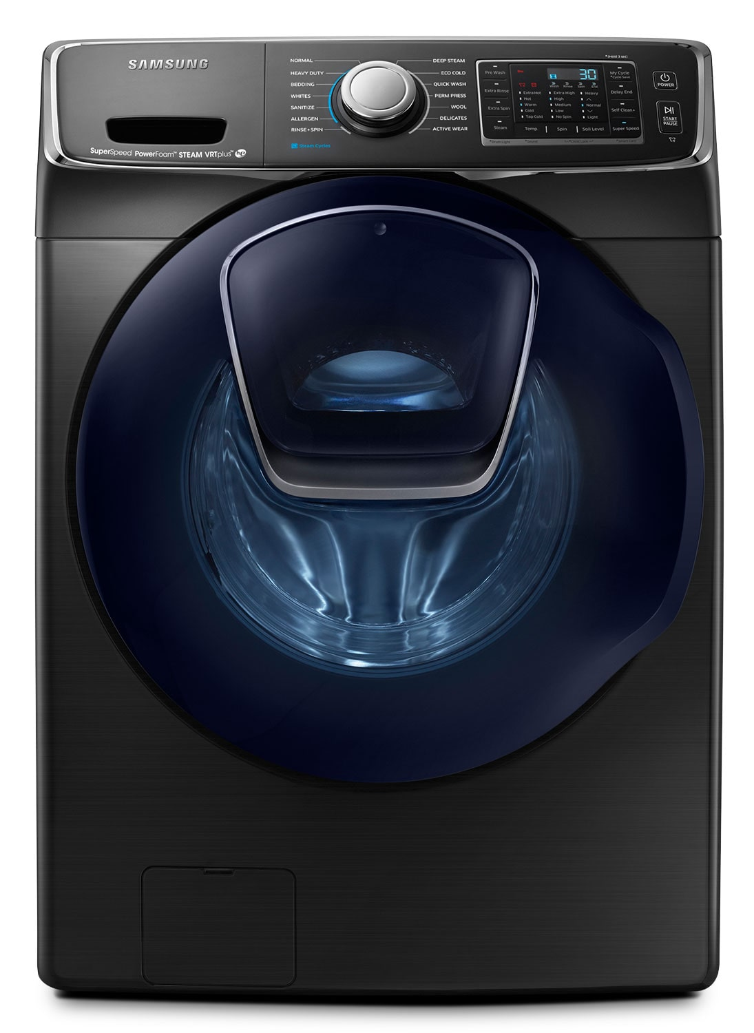 Samsung Black Stainless Steel Front-Load Washer (5.8 Cu. Ft.) -WF50K7500AV/A2