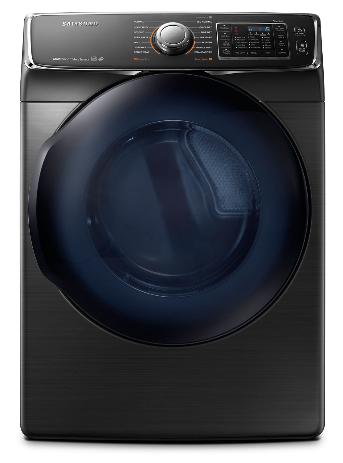 Washers and Dryers - Samsung Black Stainless Steel Electric Dryer (7.5 Cu. Ft.) - DV50K7500EV/AC