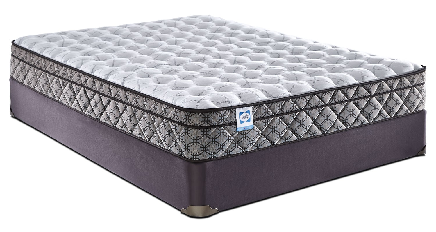 Sealy Bellcroft Euro-Top Firm Queen Mattress Set