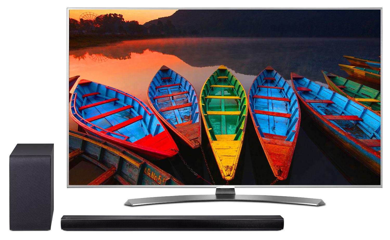 "LG 60"" UH7700 4K Super UHD Smart LED TV with SH5B Soundbar Package"