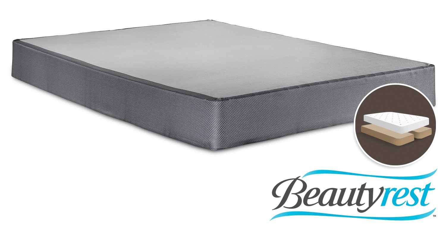 Mattresses and Bedding - Simmons Beautyrest Simple Queen Split Boxsrping