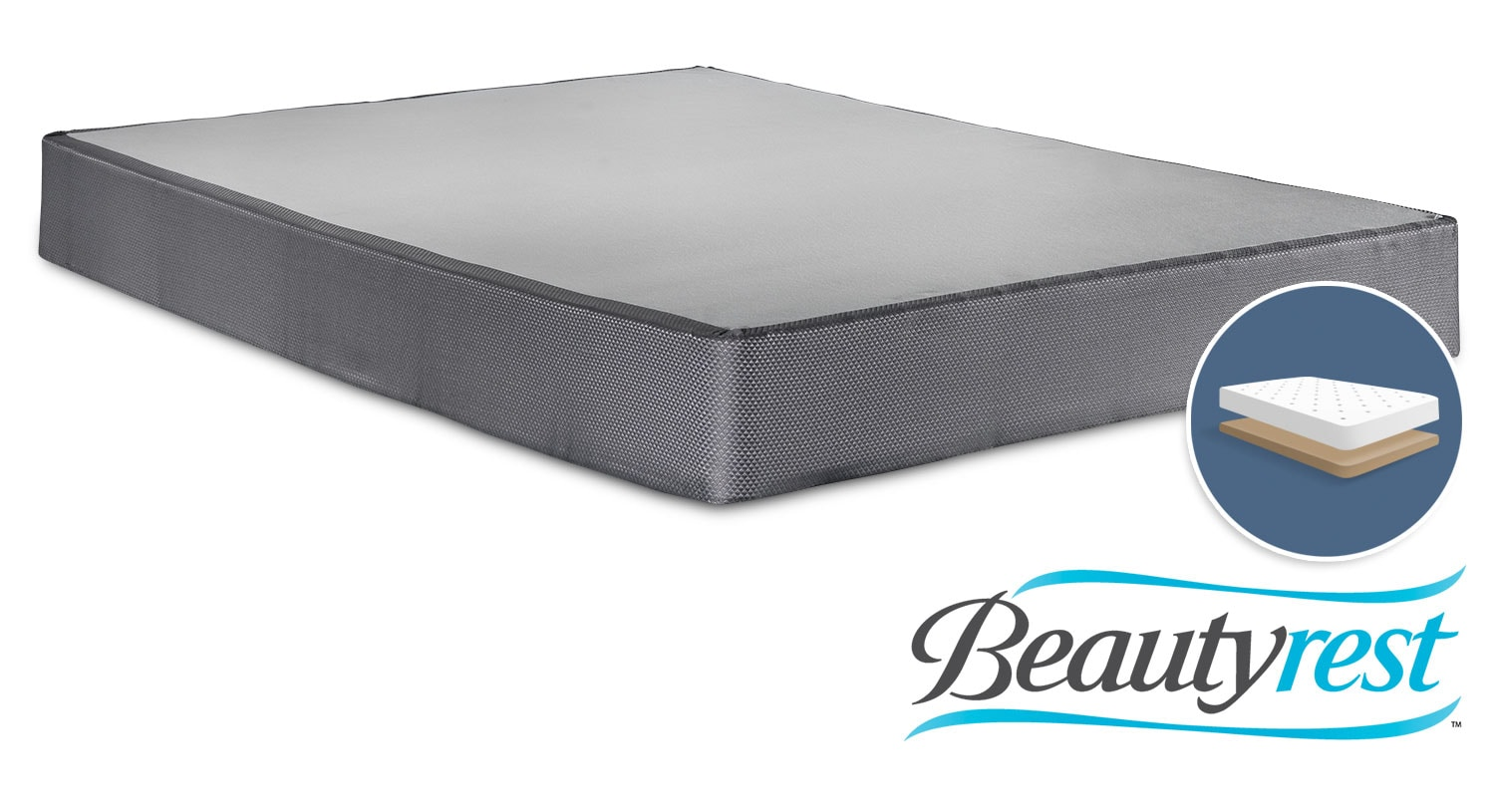 Mattresses and Bedding - Simmons Beautyrest Simple Full Low-Profile Boxspring