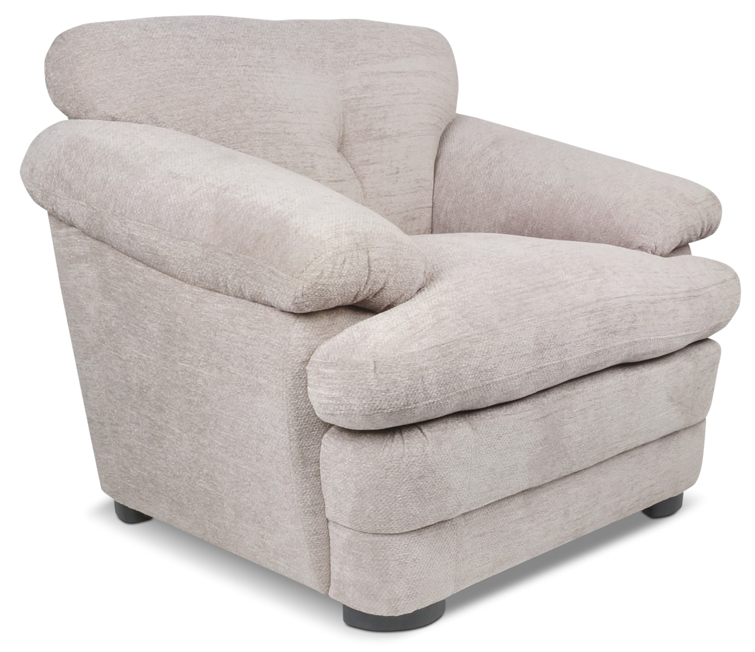 Living Room Furniture - Lisbon Chenille Chair – Taupe