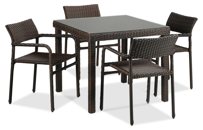 Outdoor Furniture - Bellamy 5-Piece Patio Dinette - Brown