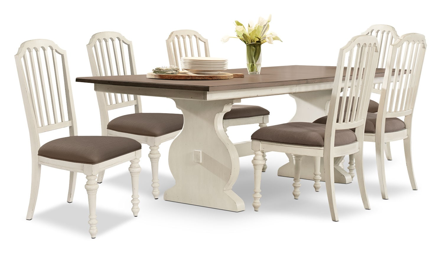 Dining Room Furniture - Hancock Park 7-Piece Dining Package