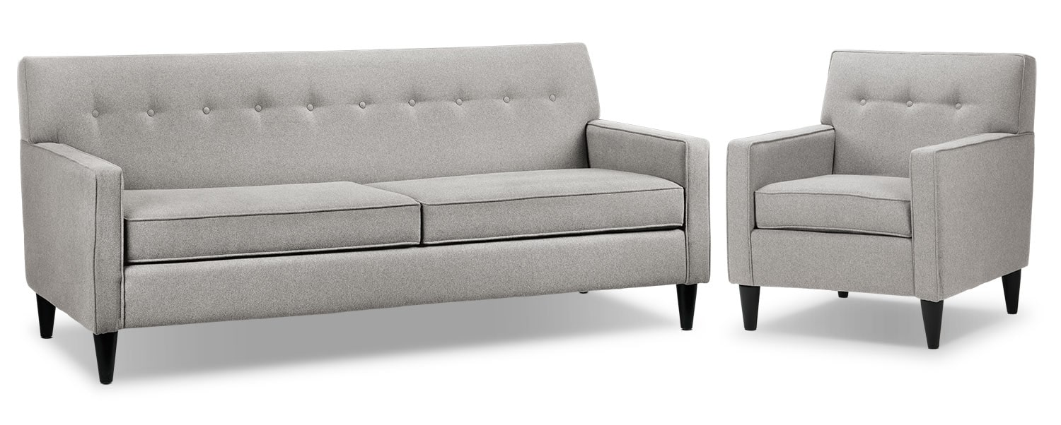 Passerina Sofa and Chair Set - Dove