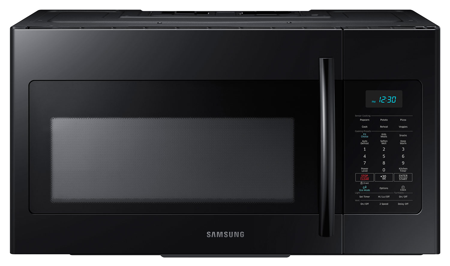 Cooking Products - Samsung Black Over-the-Range Microwave (1.7 Cu. Ft.) - ME17H703SHB
