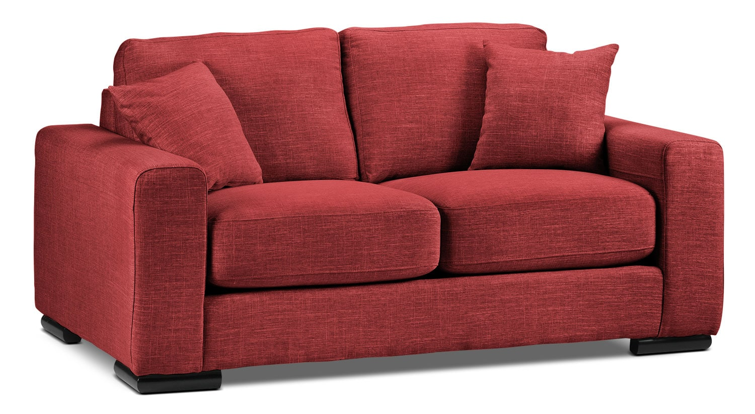 Living Room Furniture - Precious Loveseat - Red