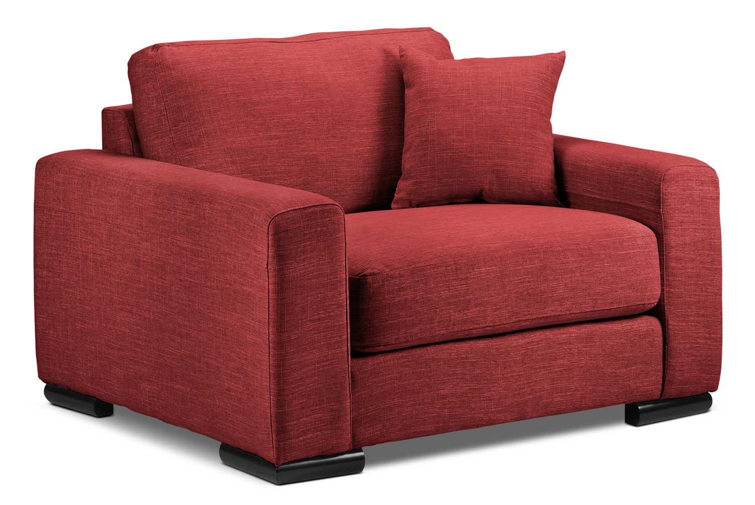 Living Room Furniture - Precious Chair and a Half - Red