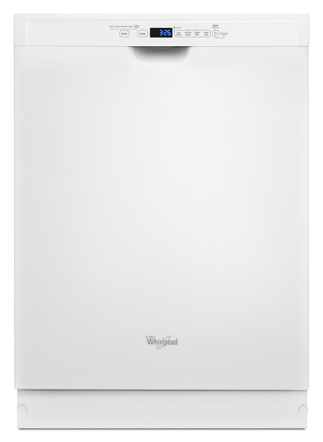 "Clean-Up - Whirlpool White 24"" Dishwasher - WDF560SAFW"