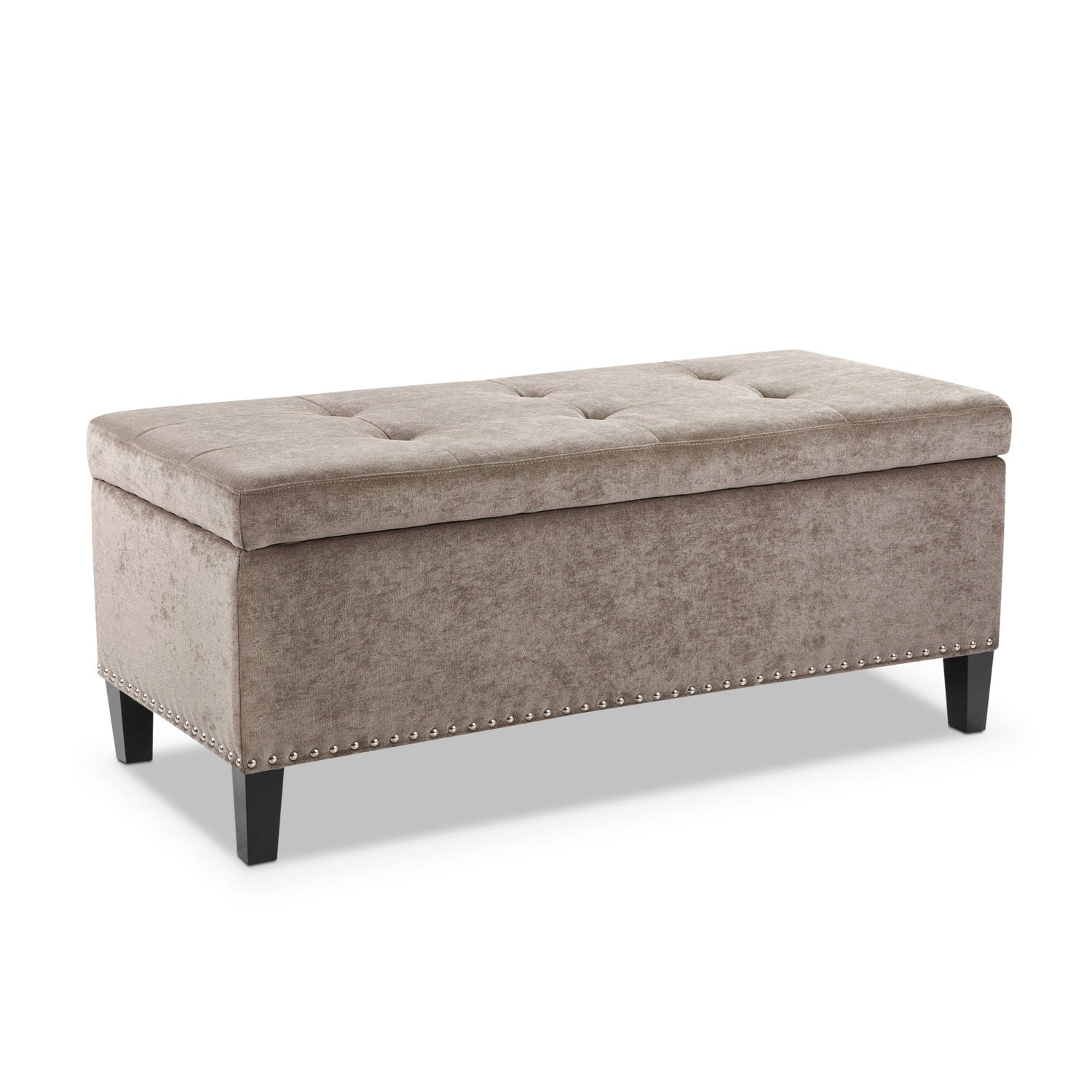 Harper storage bench gray value city furniture Gray storage bench