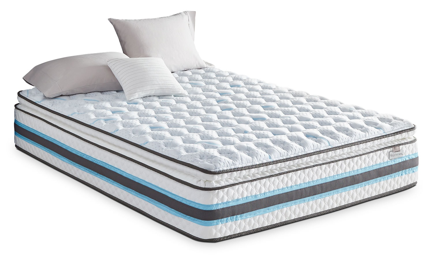 Mattresses and Bedding - Serta iSeries® Breathtaking Pillow-Top Plush Queen Mattress