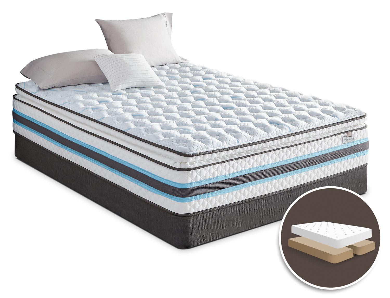 Mattresses and Bedding - Serta iSeries® Breathtaking Pillow-Top Firm Split Queen Mattress Set