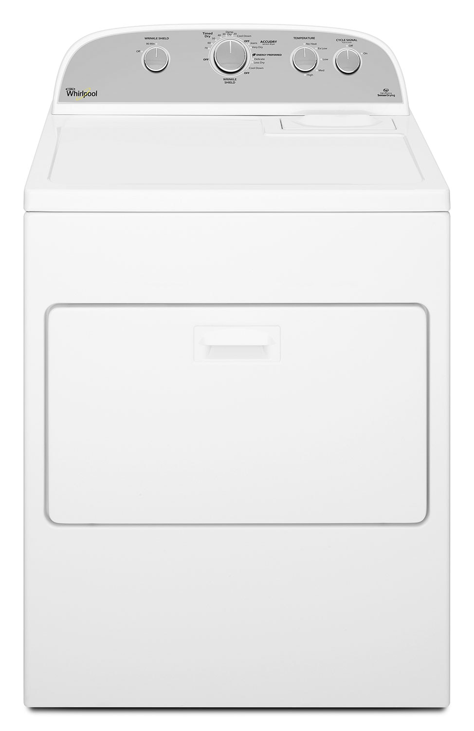 Washers and Dryers - Whirlpool White Gas Dryer (7.0 Cu. Ft.) - WGD4915EW