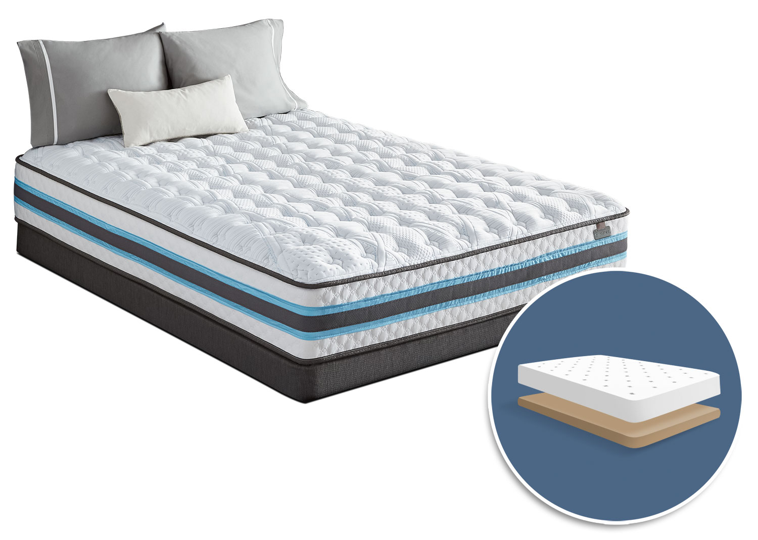 Mattresses and Bedding - Serta iSeries® Atmosphere Tight-Top Firm Low-Profile King Mattress Set