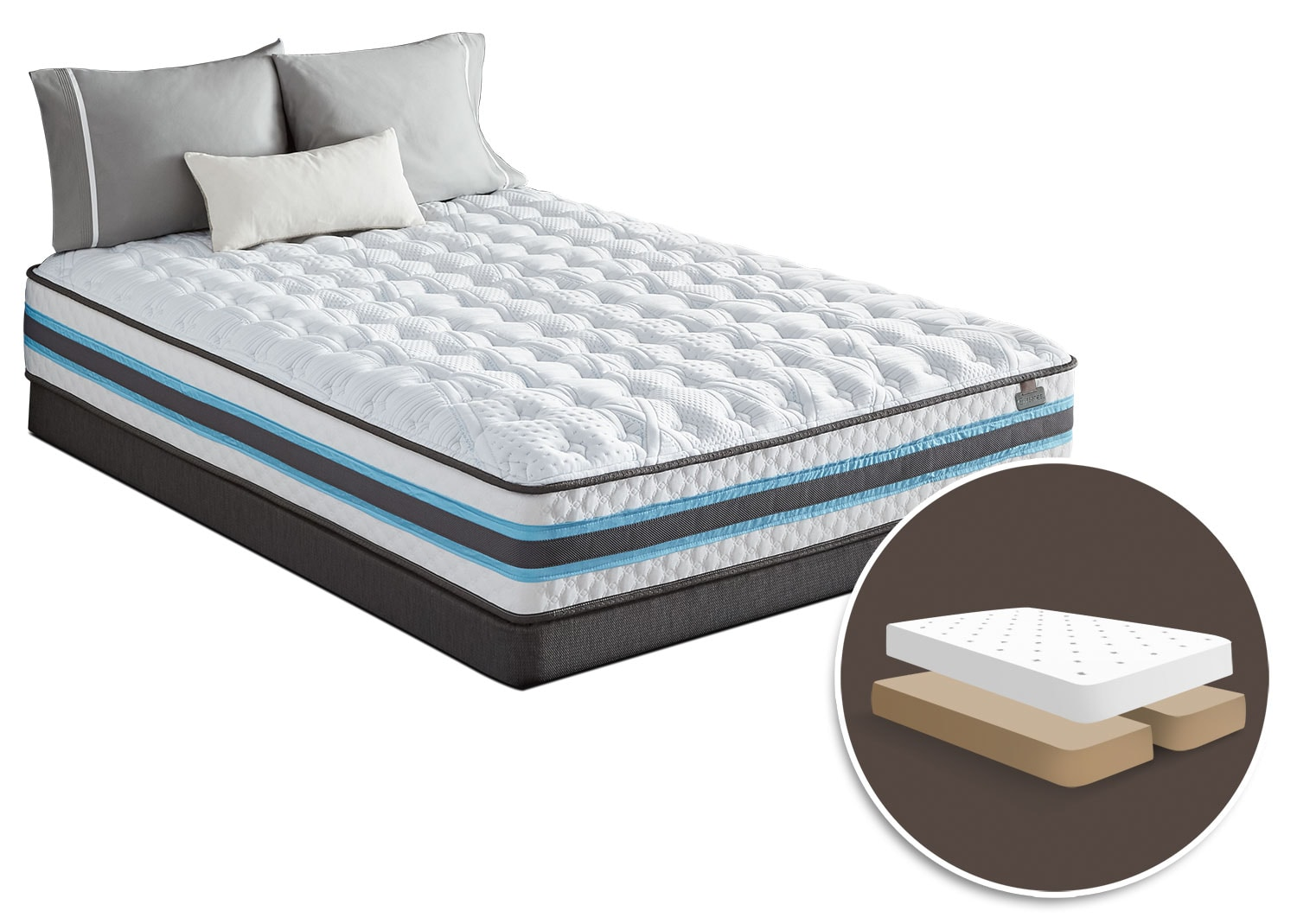 Mattresses and Bedding - Serta iSeries® Atmosphere Tight-Top Firm Split Queen Mattress Set
