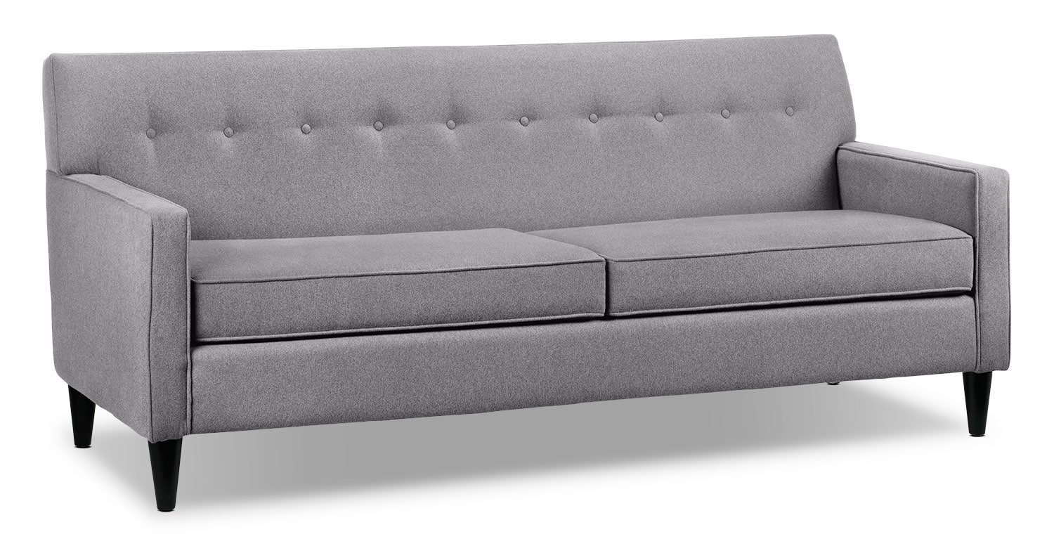 Living Room Furniture - Passerina Sofa - Grey