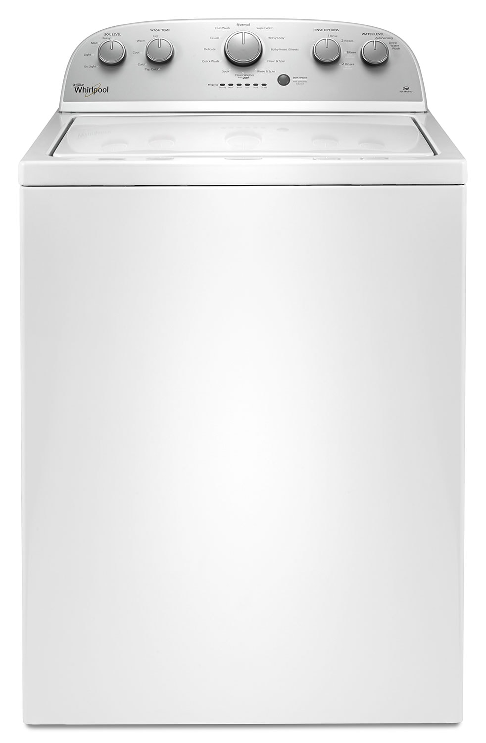 Washers and Dryers - Whirlpool 3.5 Cu. Ft. Top-Load Washer – WTW4816FW