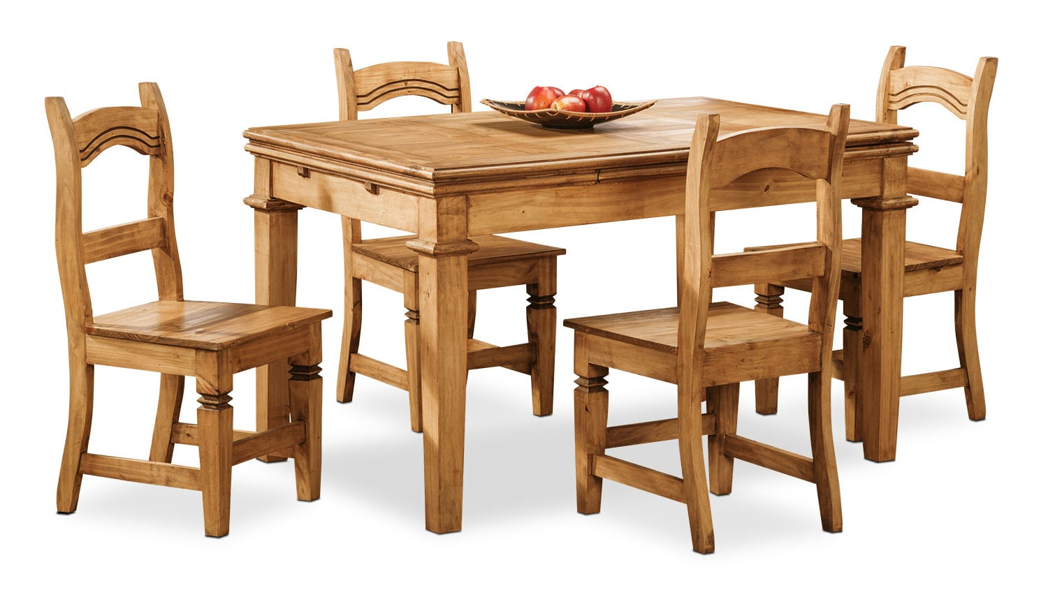 Dining Room Furniture - Santa Fe Rusticos 5-Piece Dining Package