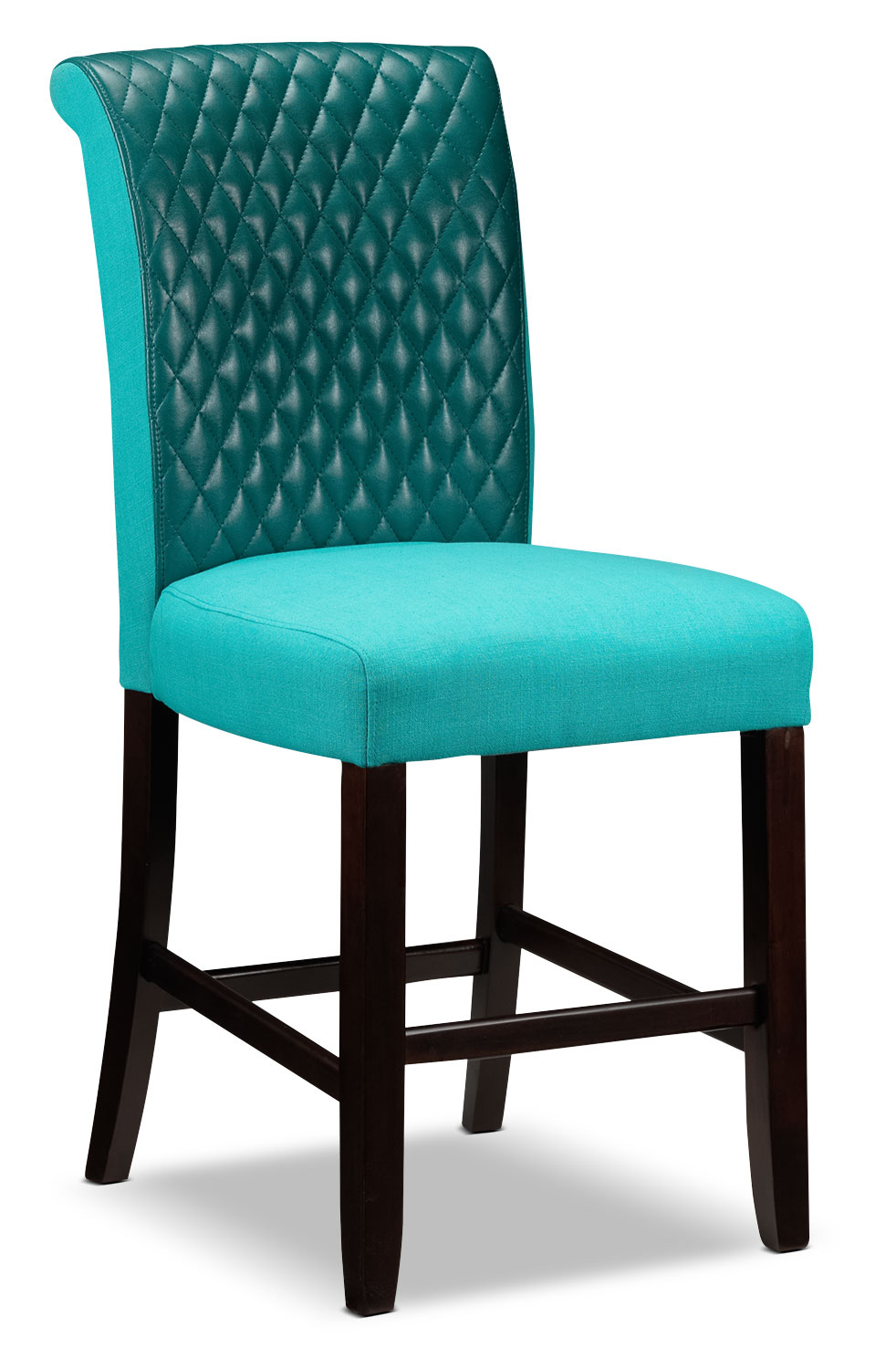 Casual Dining Room Furniture - Flora Pub Chair - Teal
